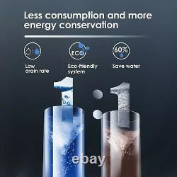 Tankless 7-Stage Reverse Osmosis Water Filtration System 400 GPD, 11Drain Ratio