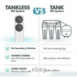 Tankless RO Reverse Osmosis Water Filtration System, 400GPD Fast Flow Purifier