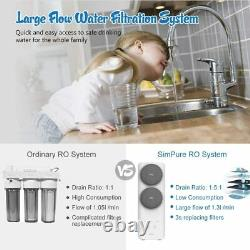 Tankless Water Filtration Water RO Reverse Osmosis System 400 GPD Fast Flow FCC