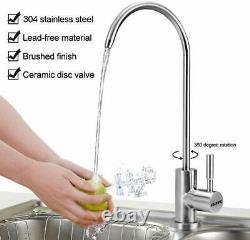 Under Sink75GPD 5Stage Reverse Osmosis Drinking Water Filter System wFaucet&Tank