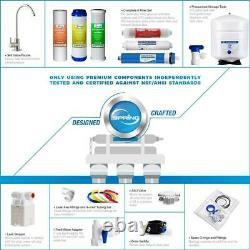 Under Sink Reverse Osmosis Drinking Water Filtration System 6 Stage Alkaline
