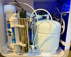 W01A 6 Stage Drinking System Reverse Osmosis(RO 100G) + UV + Booster Pump +TDS
