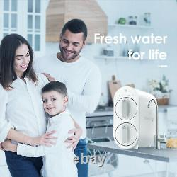 Waterdrop RO Reverse Osmosis Water Filtration System, 600 GPD, Smart Panel