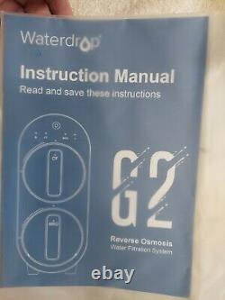 Waterdrop WD-G2-W G2 RO Reverse Osmosis Water Filtration System Tankless White