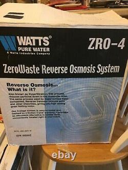 Watts Premier 0950045 ZeroWaste Reverse Osmosis System ZRO-4