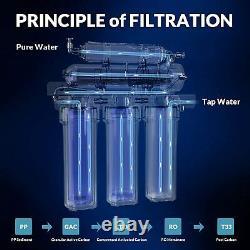100 Gpd Système De Filtration D'eau À Osmose Inverse 5 Étapes + 15 Filtre Supplémentaire