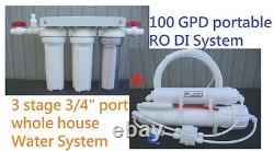 100 Maison Entière Gpd Reef Aquarium Ro DI 5stage Système D'osmose Inverse D'eau