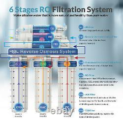 100gpd 10 Stade Alkaline Reverse Osmosis Drinking Water Filter System Purificateur