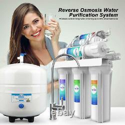 100gpd 5 / Système De Filtration D'eau À Osmose Inverse À 6 Étages Sous Purificateur D'eau
