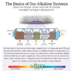 10 Etape Accueil Undersink Alcaline + Osmose Inverse Ro MIX Système De Logement 50 Gpd