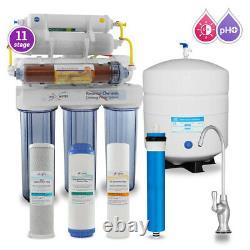 11 Étape Di, Ph 5-1 Alkaline 50gpd Drinking Ro System Avec Cp Designer Faucet