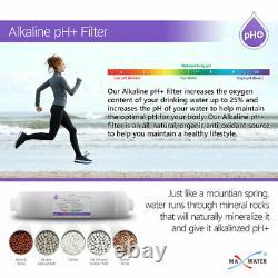 11 Étape Max Eau Uv Ph 5-1 Alkaline 50gpd Drinking Designer Faucet Ro System