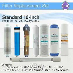 12 Etape Ro Système De Jeu De Filtres 5 In1 Alcaline Di, Ampoule Uv 4 Pins + Membrane