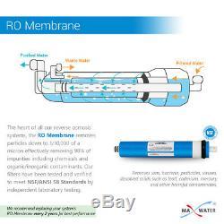 12 Etape Ro Système De Jeu De Filtres 5 In1 Alcaline Di, Uv 2 Ampoule Pins + Membrane