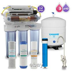 12 Étape Uv DI Ph 5-1 Alkaline 50gpd Drinking Ro System Avec Bn Designer Faucet