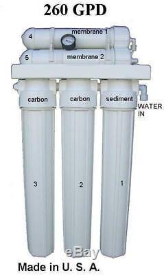 260- 300gpd Hydronponics Osmose Inverse Ro Filtration De L'eau Processus Alimentaire