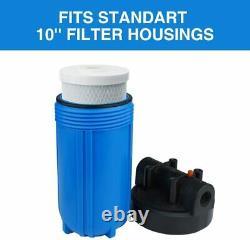 2-stage Big Blue 10 Whole House System 1 Port+, Carbone, Sédiments, Préfiltres