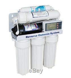 380 Gpd Direct Flow Osmose Inverse Pumped Contrôleur LCD Système, Flush Automatique