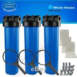 3 Etape Pléniers Filtre À Eau Système 1 Port Avec Support, 20 Pouces Big Blue