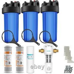 3 Étapes Big Blue 10 Système De La Maison Entière 1 Port + Carbon Block + Filtres De Sédiments
