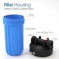 3 Étapes Big Blue 10 Whoe House System 1 Port + Carbon Block + Filtres De Sédiments