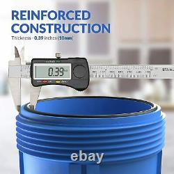 3 Étapes Big Blue 20 Système De Maison Entière + Bloc De Carbone + Sédiments + Filtre De Pré-eau
