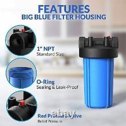 3-stage Big Blue 10 Whole House System 1 Port+, Chaîne, Sédiment, Filtres Au Carbone