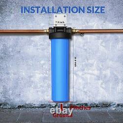3-stage Big Blue 20 Système De La Maison Entière 1 Port, Sédiments, Filtres Plissés