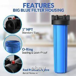 3-stage Big Blue 20 Système De Maison Entière, Gac, Sédiments, Carbone, Filtres Pré-eau