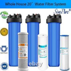 3-stage Big Blue 20 Whole House System 1 Port+carbon, Sédiment, Filtres Plissés