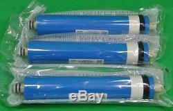 3x Par Osmose Inverse Ro Membranes Filtre À Eau System 50 75 100 150 Gpd