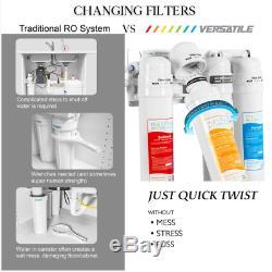 4 Etape Ro Osmose Inverse De Filtration D'eau 50gpd Rapide Twist Système Mv4-csrg