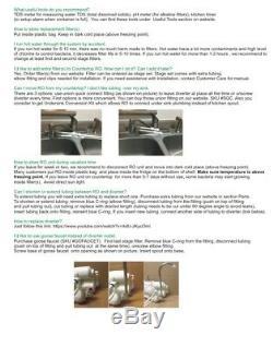 4 Étapes Alcaline Countertop Osmose Inverse Ro Système De Purification D'eau, 75 Gpd