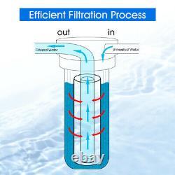 4-stage 10 Système De La Maison Entière Carbone, Sédiments, Mise À Jour Filtre Préd'eau Spin Down