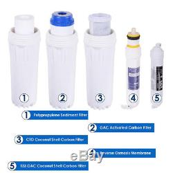5 Épurateur Ro De Filtre À Eau De Système D'eau D'osmose D'inversion De L'étape 50 Gpd Avec La Jauge De Pression