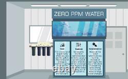5 Étape 100 Gpd Osmose Inverse/di Aquarium Reef Water Filter System 0 Ppm Rodi