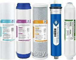 5 Étape 75 Gpd Reverse Osmose Système De Filtre À Eau Pure Avec Réservoir De Stockage T 3.2g