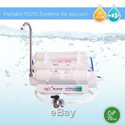 5 Étape 75 Gpd Ro DI 0ppm Aquarium Portable Par Osmose Inverse Du Système De Filtration De L'eau