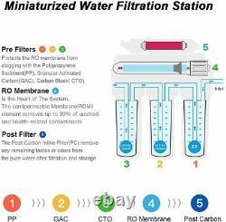 5 Étape 75gpd Sous Évier Osmose Inverse Ro Système De Purificateur D'eau Potable