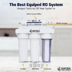 5 Étape De Remplacement / Portable 75 Gpd Eau Potable Par Osmose Inverse Système De Filtration