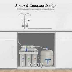 5 Étape Osmose Inverse Filtre D'eau Potable Ro Système Purificateur D'eau 100gpd