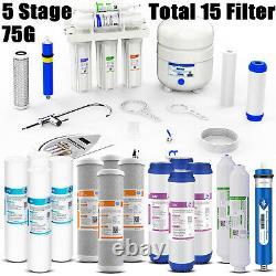 5 Etape Osmose Inverse Réseau D'eau Potable Ro Accueil Purificateur 15 Filtres Total