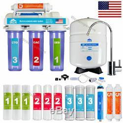 5 Etape Par Osmose Inversée Système De Filtration D'eau Clair + 7 Filtres Supplémentaires