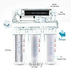 5 Etape Pléniers Système D'osmose Inverse D'eau Ro Accueil Distributeur + Top Filtres