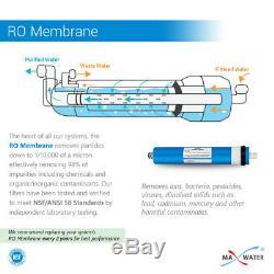 5 Étape Potable Résidentiels Système D'osmose Inverse Avec Pompe Booster 75 Gpd