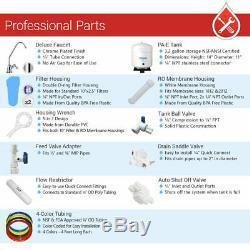5 Etape Potable Système D'osmose Inverse Avec 20 Filtres À Eau 75 Gpd (2 Membranes)
