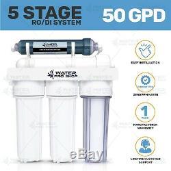 5 Etape Reef Aquarium Osmose Inverse (ro / Di) Système De Filtration 50 Gpd USA