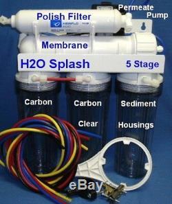 5 Etape Système D'osmose Inverse 50 Gpd + Perméat Pompe / Ro Filtre À Eau
