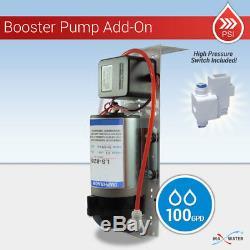 5 Etape Système D'osmose Inverse Avec Pompe Booster 100 Gpd Moderne Brossé Nickel