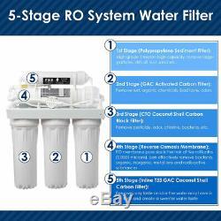 5 Etape Système D'osmose Inverse Ro Avec Filtre Supplémentaire 13 Filtres Et Jauge De Pression
